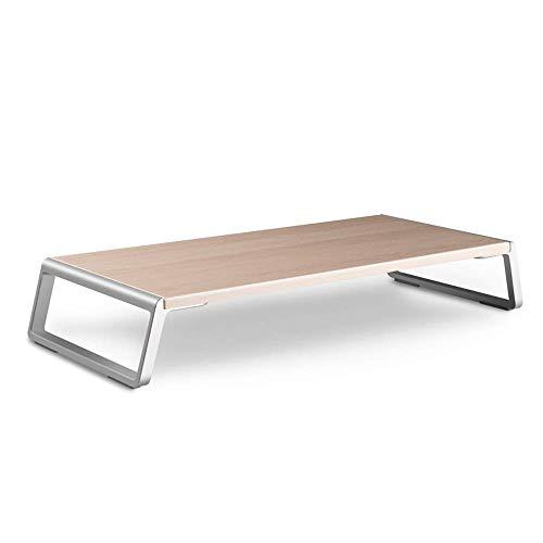 DX Laptop-Ständer - Aluminiumlegierung + Holzplatte + Silikon, Computerbildschirm Notebook Schreibtisch Tastaturhalterung, um den Platz zu vergrößern -56,4X24X9,1cm