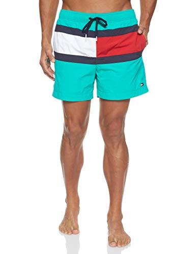 Tommy Hilfiger Herren MEDIUM Drawstring Shorts, Grün (Green 301), (Herstellergröße:M)