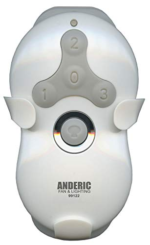 Anderic Ceiling Fan Remote Control (Remote ONLY) for Hunter 99122 & 99123 - Only Works to Replace Hunter 99122 & 99123 Remote Controls - Works only with Hunter Receivers 99122 & 99123