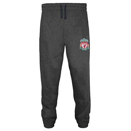 Liverpool FC - Herren Fleece-Jogginghose - Offizielles Merchandise - Geschenk für Fußballfans - Grau - XL