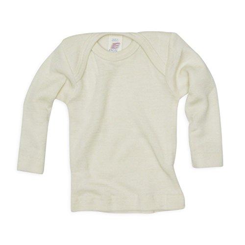 Baby Unterhemd langarm, Wolle Seide, Engel Natur, Gr. 98/104