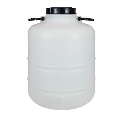 Bidón Garrafa Plástico Alimentario 30 litros y asas redondo. Boca ancha. Apto para agua consumo humano y todo tipo de líquidos o sólidos.
