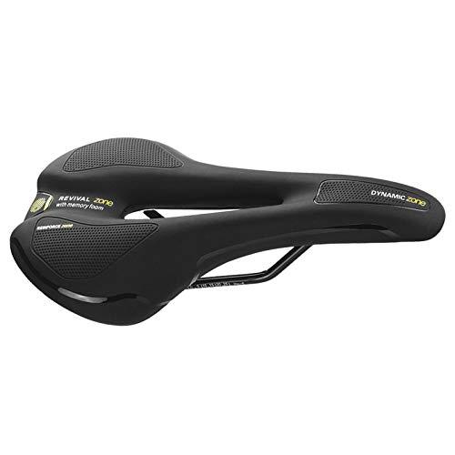 DIYARTS Sillín de Ciclismo, ergonómico Asiento de Bicicleta cómodo Asiento de Orificio Medio Hueco para Bicicleta de Carretera Bicicleta de montaña (Negro)