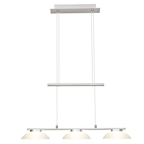 Brilliant Trend LED hanglamp balken 3 lampen 79 cm in hoogte verstelbaar ijzer/wit glas 1620 lumen, LED geïntegreerd