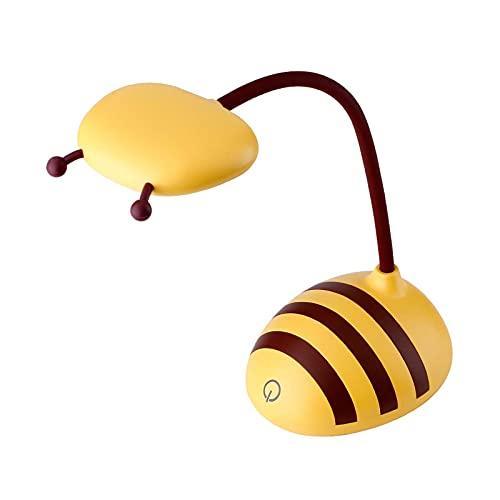 Lámpara de Mesa Lámpara de Escritorio LED Regulable Lámpara de Mesa de Control táctil Recargable Lámpara de abejita Linda con 360 & deg;Cuello de Cisne Flexible para Dormitorio de estudiant