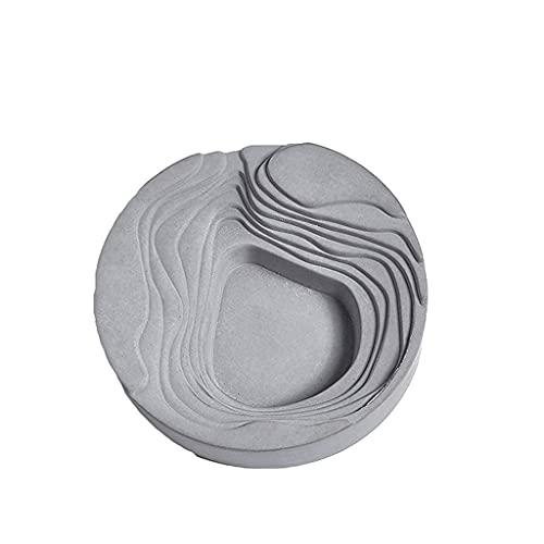 FBDGNG Cenicero de cemento creativo para uso en interiores y exteriores, exquisita decoración de escritorio para el hogar, coche, oficina, etc. - 3 colores (color: negro), blanco