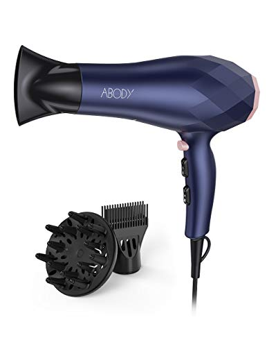 Beauty Shopping Abody 1875W Professional Hair Dryer, Negative Ion Blow Dryer 2 Speed and 3 Heat Setting,