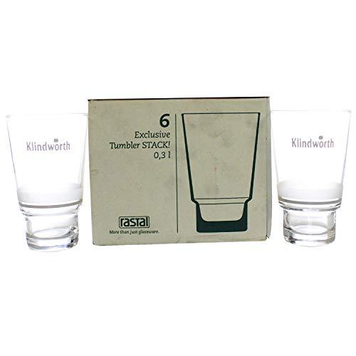 Klindworth Gläser 6x0,3l Saft-Glas geeicht Exclusiv Becher Stack! ~mn 285 1114