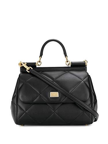 Luxury Fashion | Dolce E Gabbana Donna BB6002AW59180999 Nero Pelle Borsa A Mano | Autunno-inverno 20