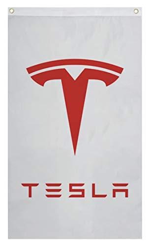 Tesla Model s, Model 3 Model x Logo, Sign, 3x5 Banner, Flag, Wall Art,