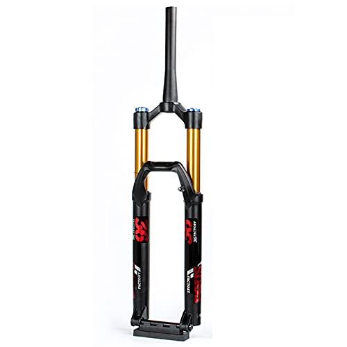 YINLIN Aire Bicicleta MTB Absorbedor 26/27.5/29 Pulgadas, Ajuste De Rebote Tubo Recto 28.6mm Qr 9mm Viaje De 120 Mm Manual Lockout MontaÑa para MTB/XC/Am/Offroad Bi red-27.5inch