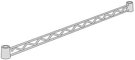 【ERECTA正規品】ホームエレクター ハンガーレール クローム D450mm用 (2本入) HA118C