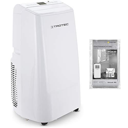 TROTEC Condizionatore d'aria locale PAC 3500 E (3,5 kW) 3 in 1: condizionamento veloce, ventilazione rinfrescante, forte deumidificazione dell'aria incluso AirLock 100