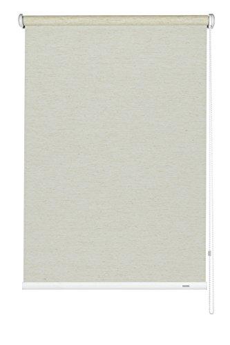 GARDINIA Seitenzug-Rollo, Decken-, Wand- oder Nischenmontage, Lichtdurchlässig, Blickdicht, Alle Montage-Teile inklusive, Silvalin Natur, 122 x 180 cm (BxH)