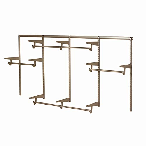 Closet Culture by Knape & Vogt Culture 8 ft. Steel Closet Hardware Kit in Champagne Nickel Shelving