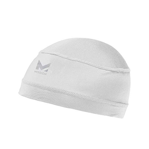 Mission Cooling Skull Cap- Hat, Helmet Liner, Running Beanie, Evaporative Cool Technology, Cools Instantly when Wet, UPF 50 Protection, for Under Helmets, Hardhats, Running, Cross Training, Football