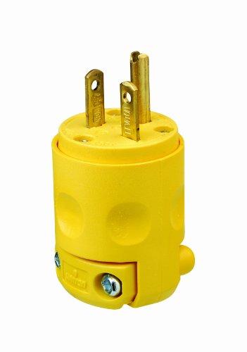 Leviton 620PV 20 Amp, 250 Volt, Plug, Grounding, pack of 1, Yellow