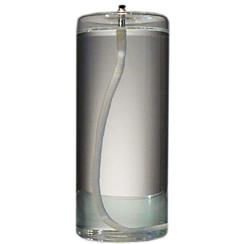 Firefly Dripless 6-Inch Refillable Glass Pillar Candle - Memory, Unity, Prayer and Window Candle Without The Wax Mess - Use Alone, in a Candle Holder or Lantern - for use in The Interior of Your Home