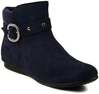 Bruno Manetti Women Suede Navy Boots