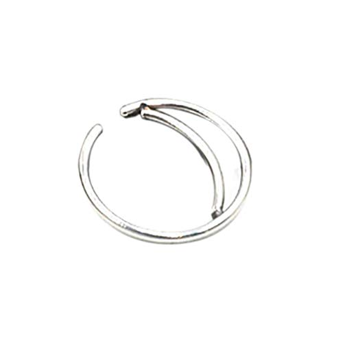CULER 1pc Metall-Nasen-Ring-Band-Cartilage Hoop Septum-Piercing kleine Nase Hoop Schmuck