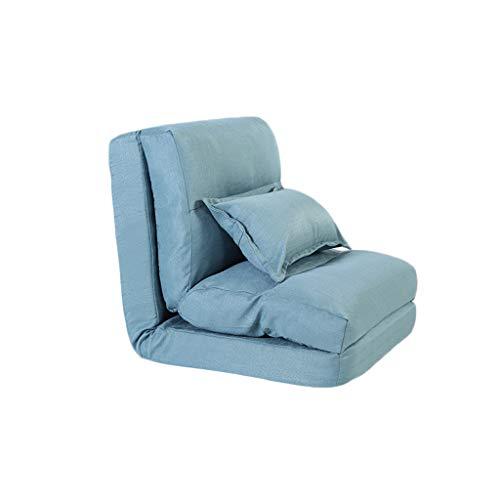 Tao Lazy Sofa Single Sofa Bed Foldable Creative Silla Multifuncional para sofá (Color : Azul)