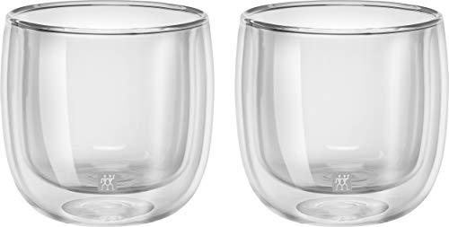 Jogo com 2 Copos para Chá, Vidro de Parede Dupla, Transparente, 240 ml, ZWILLING Sorrento