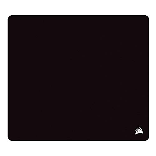 Corsair MM200 PRO Premium Spill-Proof, Stain-Resistant Cloth Gaming Mouse Pad (45 x 40 cm Surface, Micro-Weave Fabric, Extra-Thick 6 mm Plush Rubber, Anti-Skid Textured Rubber Base) Heavy XL, Black