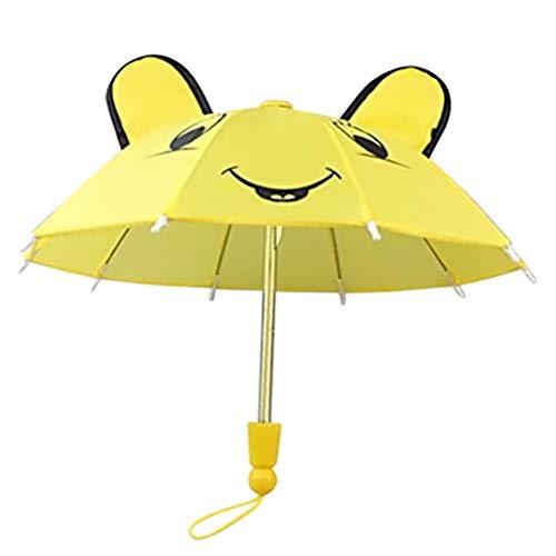 Lispeed Regenschirm Kinderregenschirm, Regenschirm für Mädchen und Jungen, Stockschirm mit Punkten für 18-Zoll Baby Born Puppen Geschenk