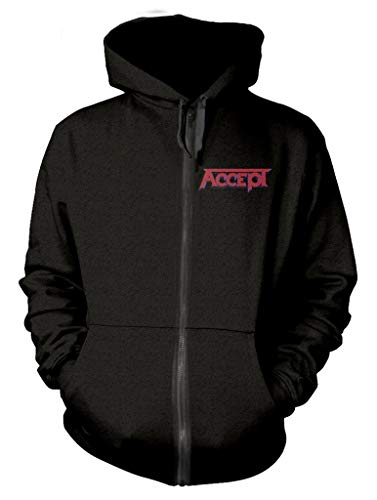 Accept 'Metal Heart' (Black) Zip Up Hoodie (XX-Large)