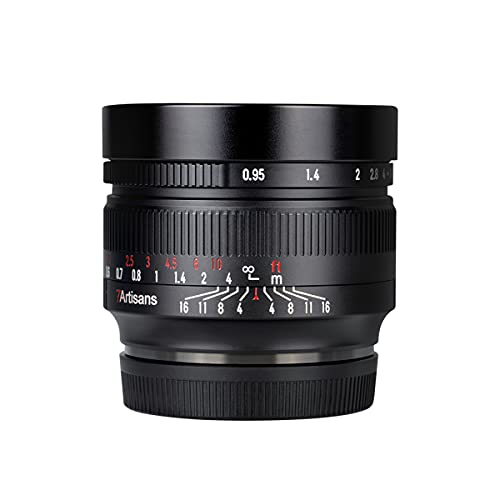 7artisans 50mm F0.95 APS-C Portrait Spiegelloses Kameraobjektiv mit großer Blende für Fuji X-A1 X-A10 X-Pro2 X-E1 X-E2