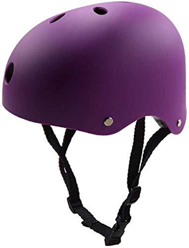 LHY Kinderhelm, Kleinkind-Fahrradhelm CE Certified Kinder Skateboard-Helm für 3-13 Jahre Jungen Mädchen Helm für BMX-Fahrrad-Roller Scooter Skateboard Inline-Skating,Lila,M