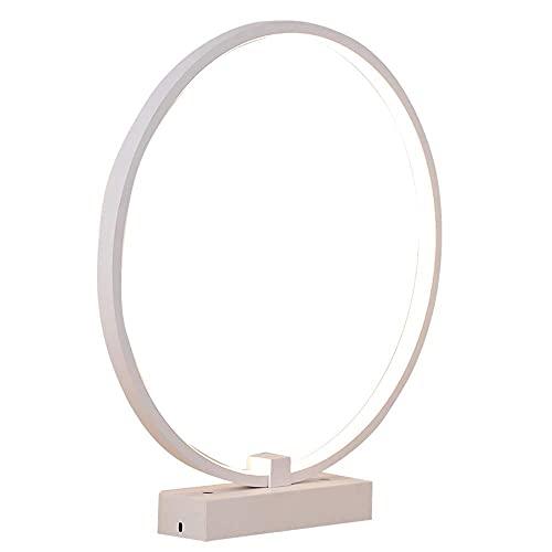 FURNITURE Lámpara de Mesa de Escritorio, Botón de Encendido, Protección Ocular Led, Focos Giratorios, Utilizados para Aprender Iluminación de Trabajo de Escritorio E27,Luz Natural,25Cm