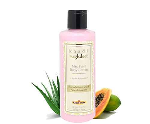 KHADI MEGHDOOT Papaya and Aloe-Vera Mix Fruits Body Lotion (210ml)