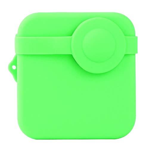 FUQUANDIAN Accesorios for GoPro héroe 8 MAX Sport cámara Funda Protectora de Silicona Cubierta de la Piel + Lente Gel Anti arañazos Shell Accesorios de Soporte (Colour : Green Color)
