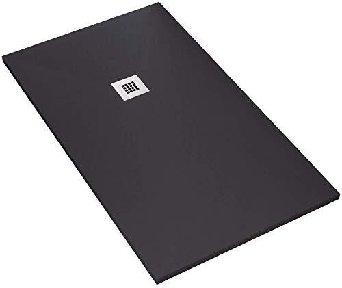 Duschwanne 100 x 160 cm aus Stein Maier Dharma schwarz