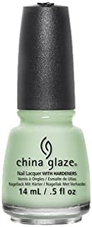 China Glaze Nail Lacquer With Hardeners - 14 Ml, Refresh Mint, 0.5 fl oz Green