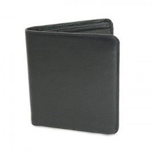 Golunski BM601 - Notecase compatto in pelle nera con sezione monete