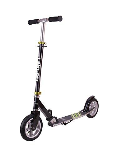 Hornet 14532 - Scooter Roller Air 200, Luftreifen Big Wheel, Tret-Roller luftbereift, Kick-Scooter, schwarz/grün