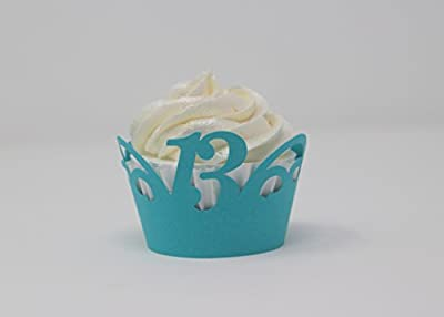 All About Details 13 Cupcake Wrappers,12pcs (Teal)