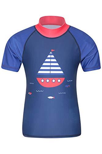 Mountain Warehouse Camiseta térmica de Manga Corta para niños - Camiseta térmica con protección Solar UPF50+, Camiseta térmica con Costuras Planas para niños Cobalto 11-12 Años