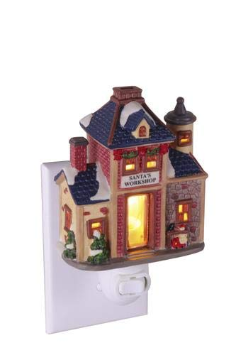 Winterland Bakery Night Light Porcelain Christmas Village House Building