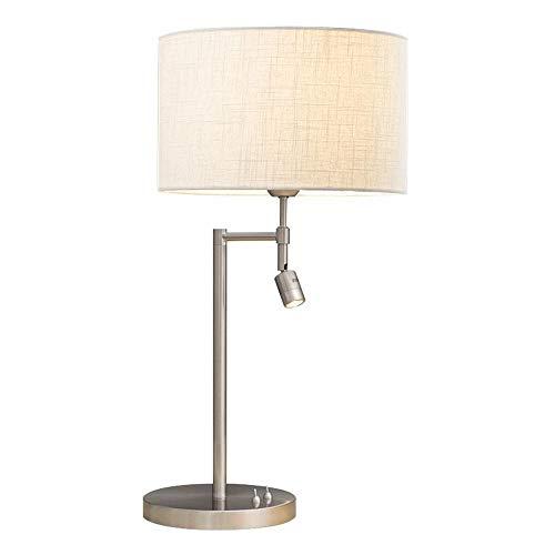 Plastique créatifs Lit pages leseschr eibtisch Lampe whishy Study Room Lampes de bureau salon lampe de table (Blanc)