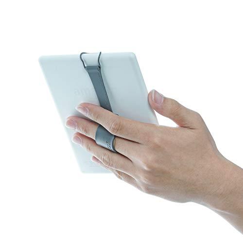 WANPOOL Universal-Handschlaufen-Halterung mit verstellbarem Leder-Gürtel, für Kindle Paperwhite/Voyage/Oasis/Fire HD 6 und mehr (grau)