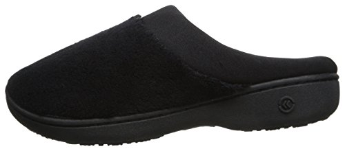 Women's Terry and Satin Slip On Cushioned Slipper with Memory Foam for Indoor/Outdoor Comfort