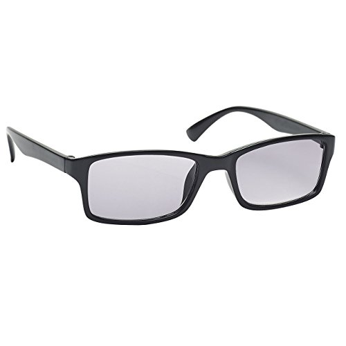 The Reading Glasses The Reading Glasses Company Die Lesebrille Unternehmen Schwarz Sonnen-Leser UV400 Designer Stil Herren Damen S92-1 +1,50