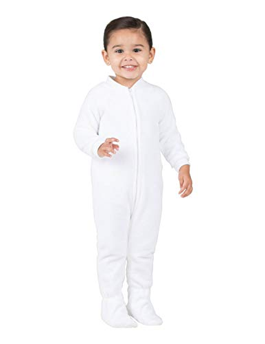 Footed Pajamas - Arctic White Infant Fleece Onesie - Infant - XLarge (Fits 12-18mos.)
