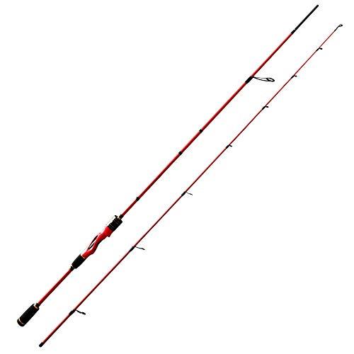 LCSD Canne à pêche Rouge 2.1 mètres Portable Ultra...