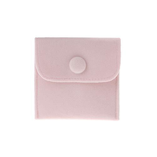 MYhose Bolsa Bolsa de joyería Almacenamiento Portátil Suave Pelusa Terciopelo Franela Pulsera Collar Bolsa de Regalo Rosa S