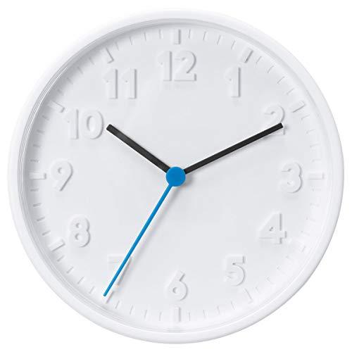 Ikea 003.741.36 Wandklok Stomma kwartsuurwerk Drchmesser 20 cm in wit