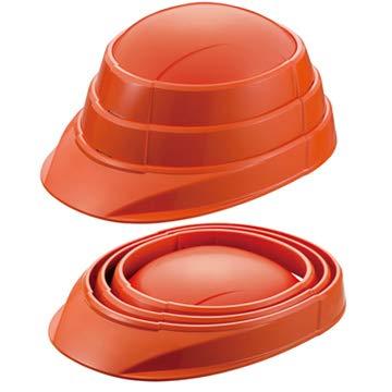 KAGAヘルメット 防災用 子供用 折りたたみ ヘルメット OSAMET Jr オサメット ジュニア オレンジ 1個